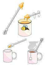 Cuillères à miel