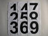 Rückennummernsatz 1-9