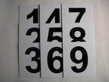 Bootsnummernsatz 1-9