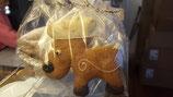 Honigkuchenfiguren mit Schokolade ausgarniert