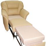 Чистка КОЖАНОГО кресла-кровати