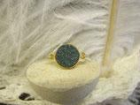 Ring vergoldet Achat grün