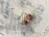 Ohrringe Glasperle rosa Strand