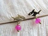 Ohrstecker Hai vergoldet