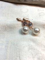 Zirkonia Ohrstecker rosegold Perle weiß, Braut Ohrringe, Vintage Ohrringe, Brautschmuck, Zirkonia Ohrringe, Vintage Ohrstecker, Brautjunfernschmuck, Geschenk