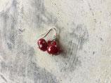 Ohrringe Glasperle Candy Polkadot rot weiß