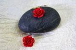 Ohrringe vergoldet Rosen rot