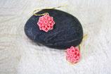 Ohrringe vergoldet Blume rosa