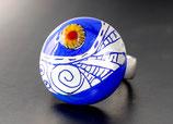 """Ringtop """"Blau-Silber"""" (ohne Ring)"""