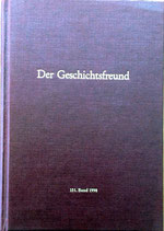 Der Geschichtsfreund 151. Band - 1998