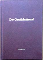 Der Geschichtsfreund 148. Band - 1996 (antiquarisch)