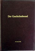 Der Geschichtsfreund 149. Band - 1996 (antiquarisch)