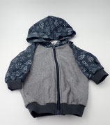 Babyjacke mit Kapuze grau