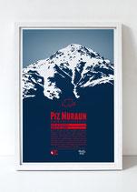 Graphik-Edition Disentis Berge als Poster