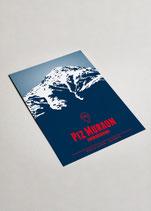 Graphik-Edition Disentis Berge als Postkartenset