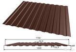 Профлист С8, шоколадный 1,5 метра
