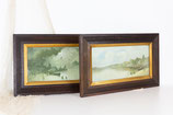 Pair of Framed Water Colour Paintings #3307