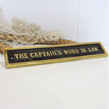 The Captain's Word Sign #1837