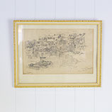 Drawing of Mousehole-Cornwall #4239