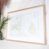 Framed Caribbean Chart #5473