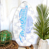 Blue & White Skimboard