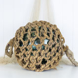 "16"" Glass Float in jute rope #3469"