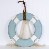 Painted Life Ring Sea Blue with White #3572