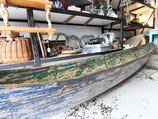Wooden Canoe - Green & Blue #4020
