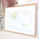 Framed Caribbean Chart #6060