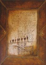 Reproduction de tableau - Reproduction d'art  Lettre poétique - Un autre soir - collection Lettres du désert