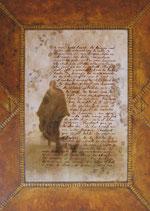 Reproduction de tableau - Reproduction d'art Lettre poétique - La bergère rouge - collection Lettres du désert