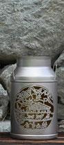 Milchkanne Alphüsli mittel, silber 16x16x29cm