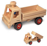 LKW Kipper aus Buchenholz