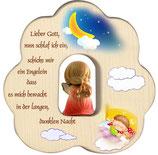 Wolke mit Engel zur Geburt oder Taufe