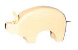 Schwein klein, handgesägt natur unbemalt