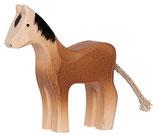 Pferd stehend klein, handgesägt und -bemalt