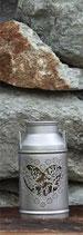 Milchkanne mit Herz klein, silber Ø10x17cm