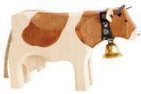 Holzkuh klein Red Holstein 10x6x3cm