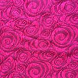 Cloqué-Jersey CIRCLE pink/schwarz