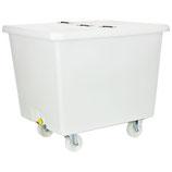 esku® mobiler Mehrzweckbehälter mit Auslauf und Klappdeckel