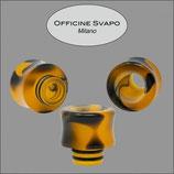 Drip Tip Mod. Flavor Metacrilato Col. Nero/Arancione