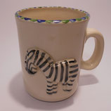 Relieftasse Zebra