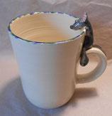 Tasse mit Henkelhocker graue Maus