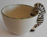 Tasse mit Tierhenkel Zebra