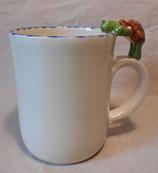 Tasse mit Henkelhocker Schildkröte