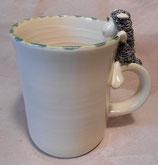 Tasse mit Henkelhocker schwarzes Schaf