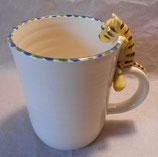 Tasse mit Henkelhocker Tiger