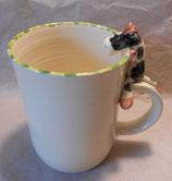 Tasse mit Henkelhocker Kuh