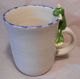 Tasse mit Henkelhocker Frosch