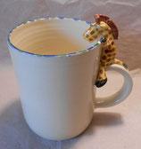 Tasse mit Henkelhocker Giraffe